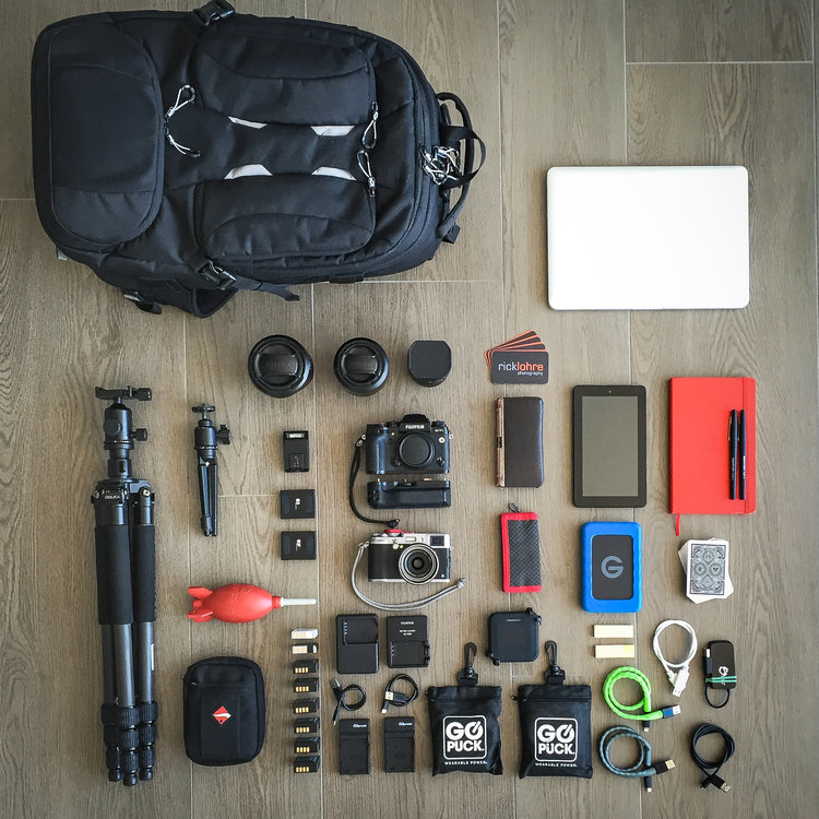 Fujifilm X Series Professional travel gear bag setup...