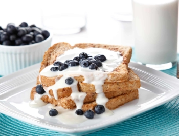 Photo of French Toast, Blueberries and Milk